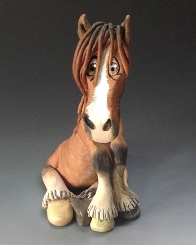 Commissioned Horse Sculpture - Ceramic
