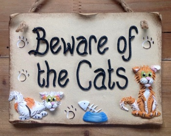 Beware of the Cat Sign - Personalised