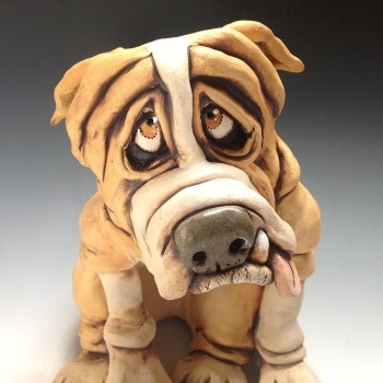 English Bulldog Sculpture 'Arthur' - Ceramic