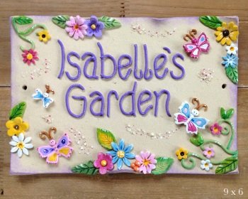 Children's Playhouse Sign - Butterflies Design