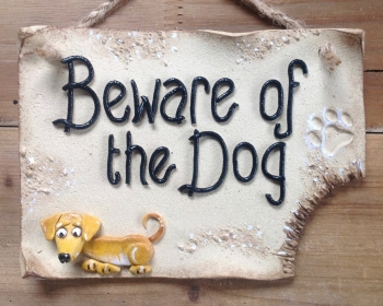Beware of the Dog Personalised Sign