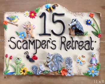 House Sign Ceramic - Animals and pets design