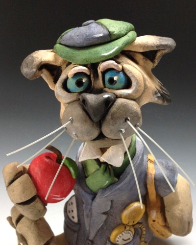 Montague the School Cat Sculpture - Ceramic