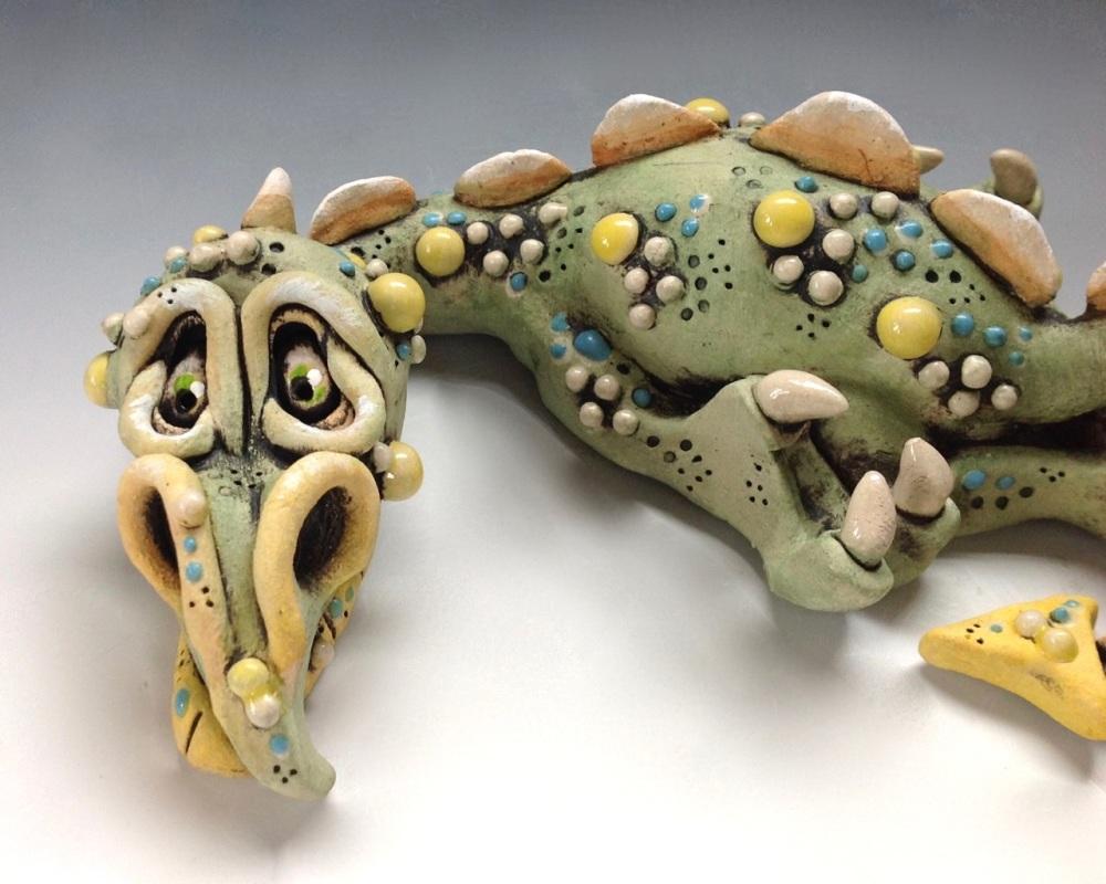 Nobby the Dragon - Ceramic Sculpture