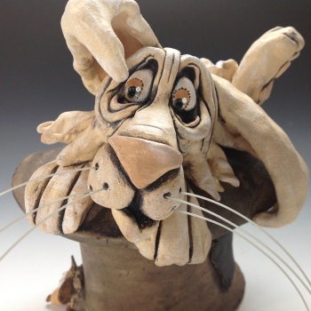 Magician's Rabbit Marley - Ceramic Sculpture