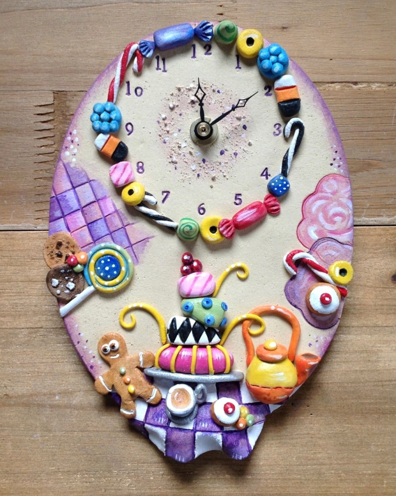 Ceramic Wall Clock - Tea Party