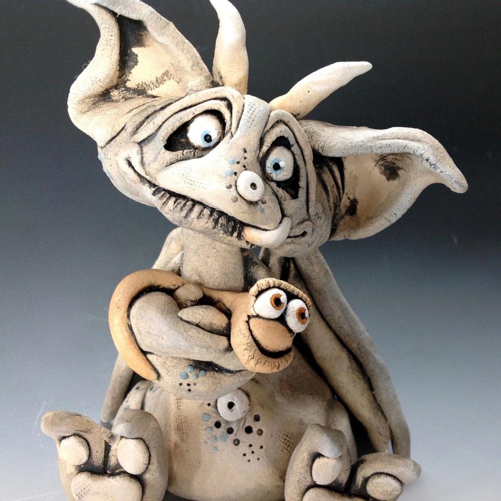 Montague the School Cat Sculpture - Ceramic