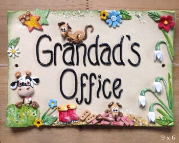 Grandad's Office - Garden Sign - SALE