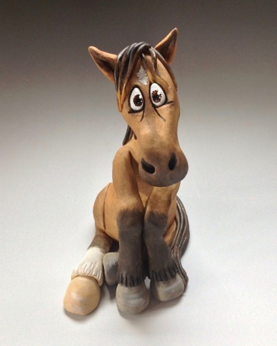 Commissioned Horse or Donkey Sculpture - Ceramic