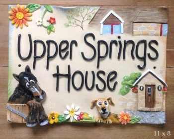 House Sign Ceramic - Personalised Home Design