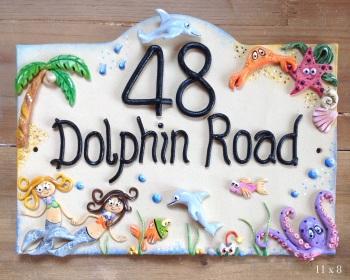 House Sign Ceramic - Mermaids Design