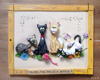 Cat Caricature Pet Portrait - Hand Sculpted Ceramic