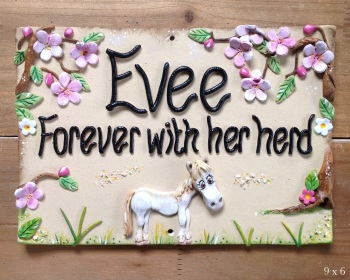 Pet Memorial Plaque Horses and Donkeys