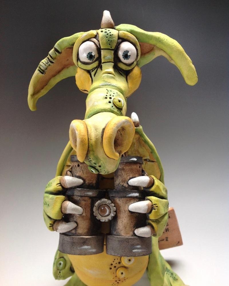 Dragon 'Gus' - Ceramic Sculpture