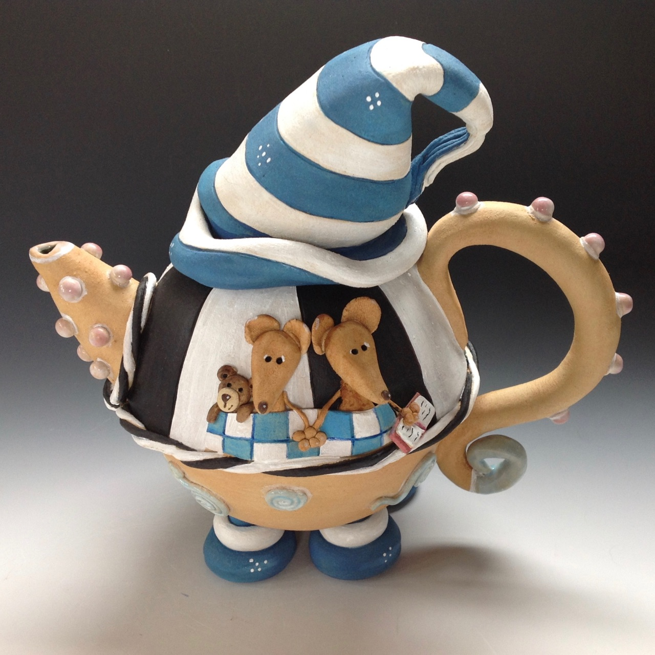 Whimsical Tea Pot Ceramic Pottery