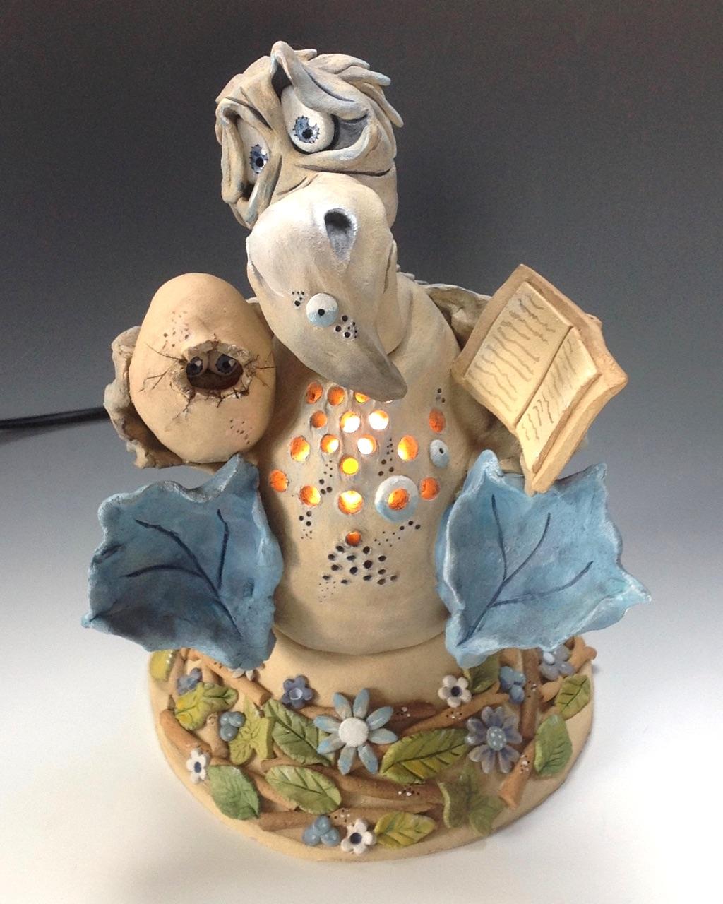 Dodo sculpture ceramic stoneware