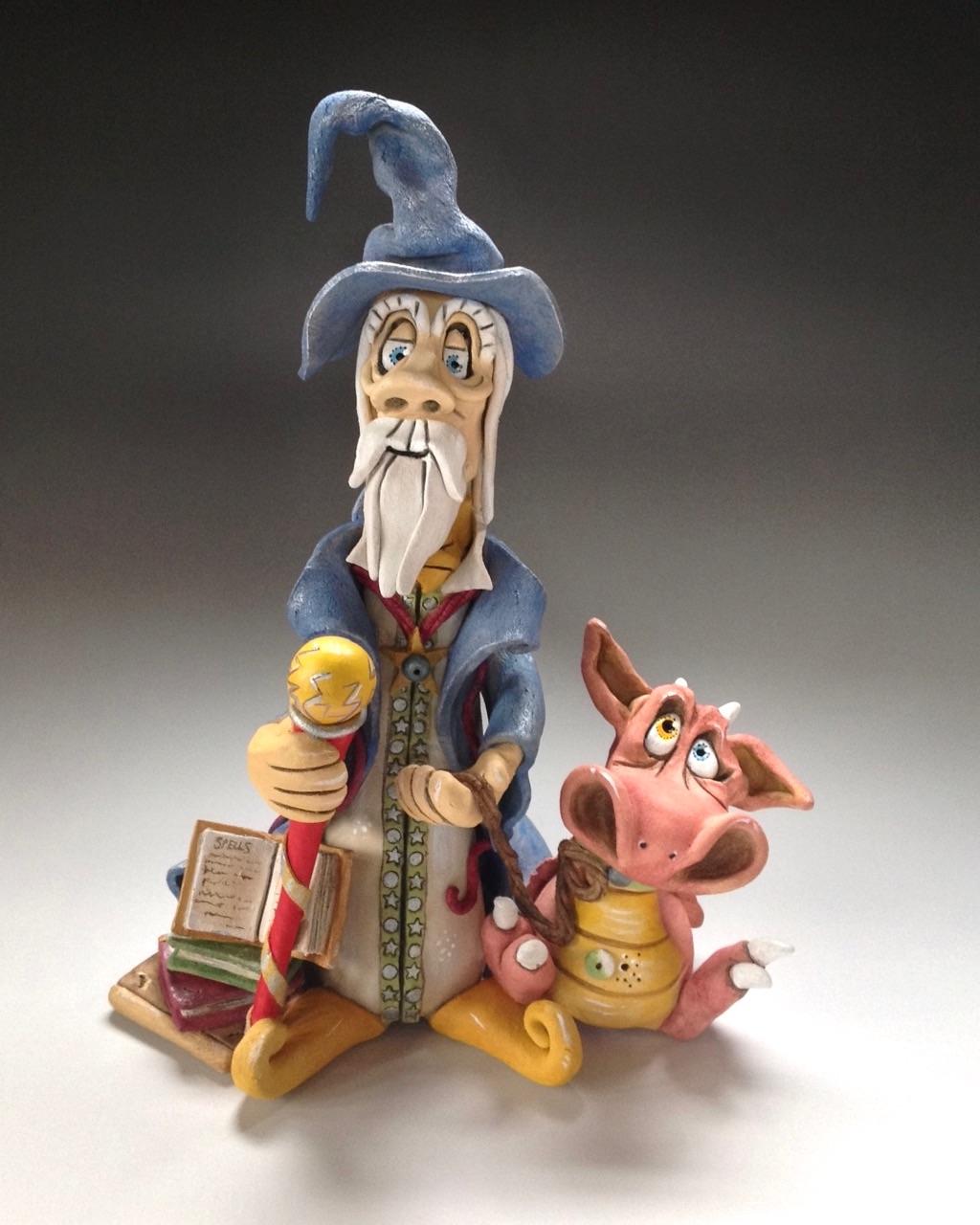 Wizard Sculpture Ceramic Pottery