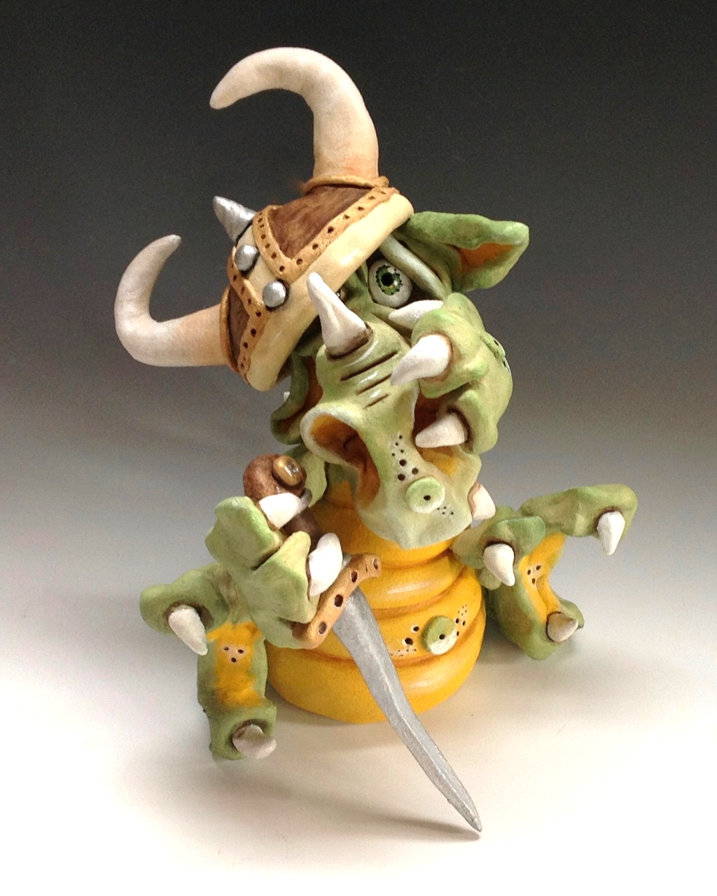 dragon sculpture ceramic stoneware
