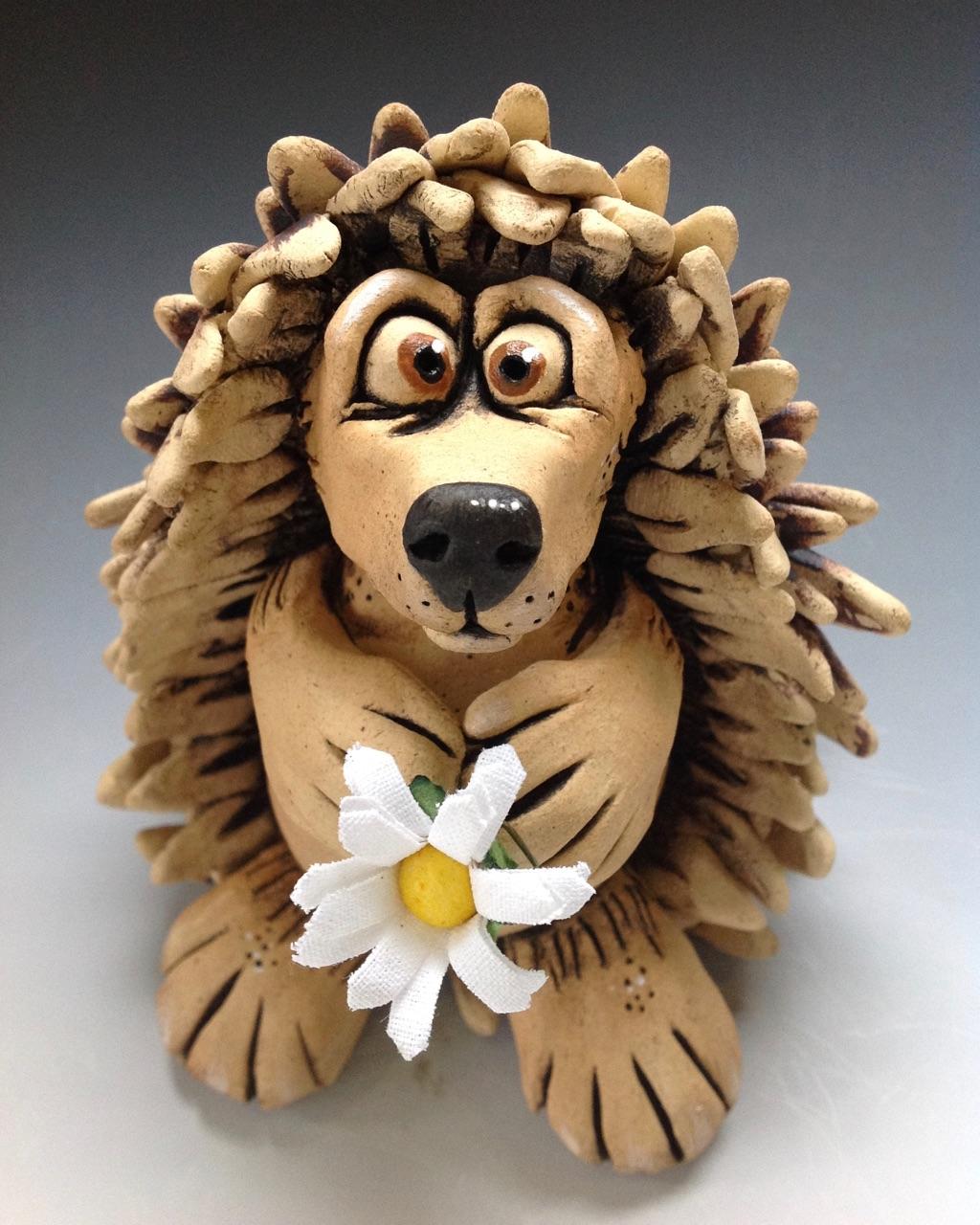Hedgegog Sculpture Ceramic Pottery