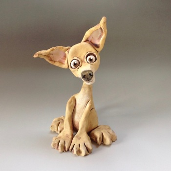 Chihuahua Dog Sculpture - Ceramic