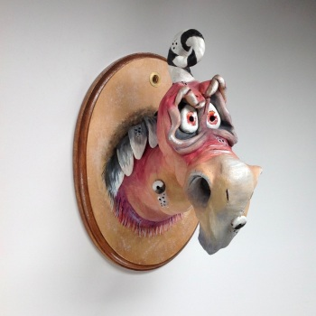 Vulture Head Wall Sculpture