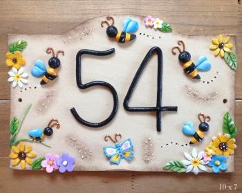 House Sign Ceramic - Bumblebee Design