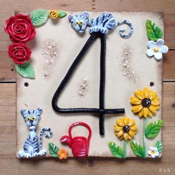 House Address Number, English Garden design
