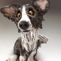 <!_002_>Custom Dog Sculptures, caricature portrait - Medium Size