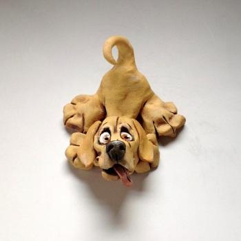 Labrador Puppy Dog Sculpture - Ceramic