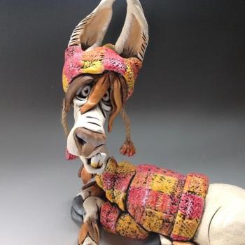 Llama Sculpture - Ceramic