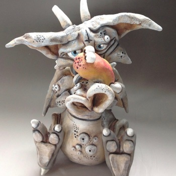 Gargoyle Sculpture - Ceramic