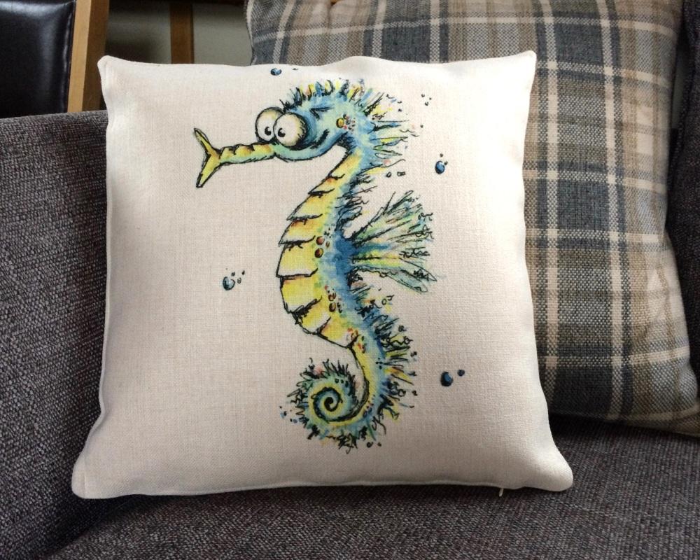 <!_011_> Seahorse Cushion