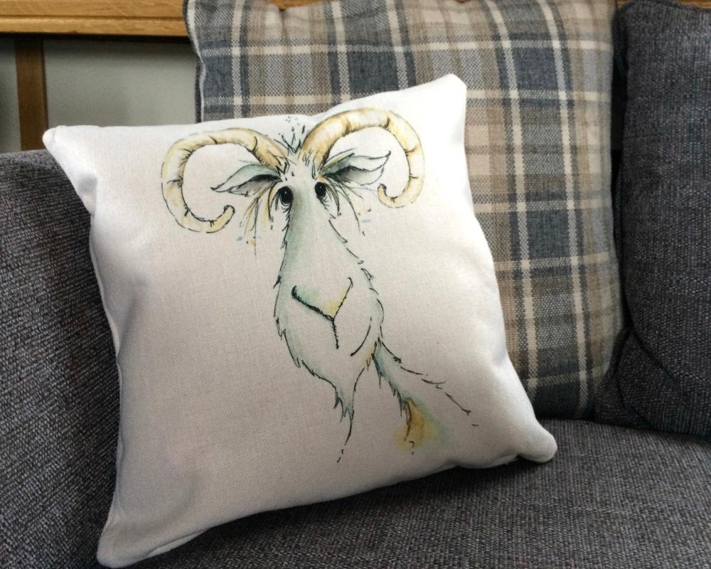 <!_015_> Goat Cushion