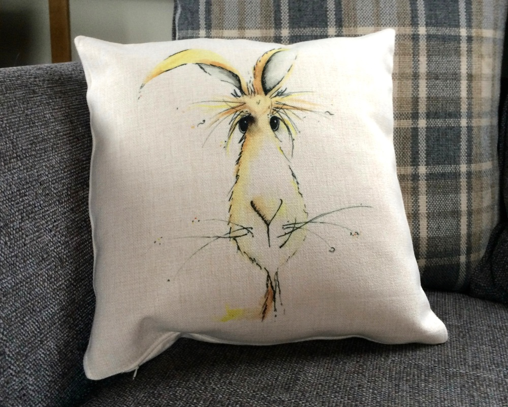 <!_016_> Goat Cushion