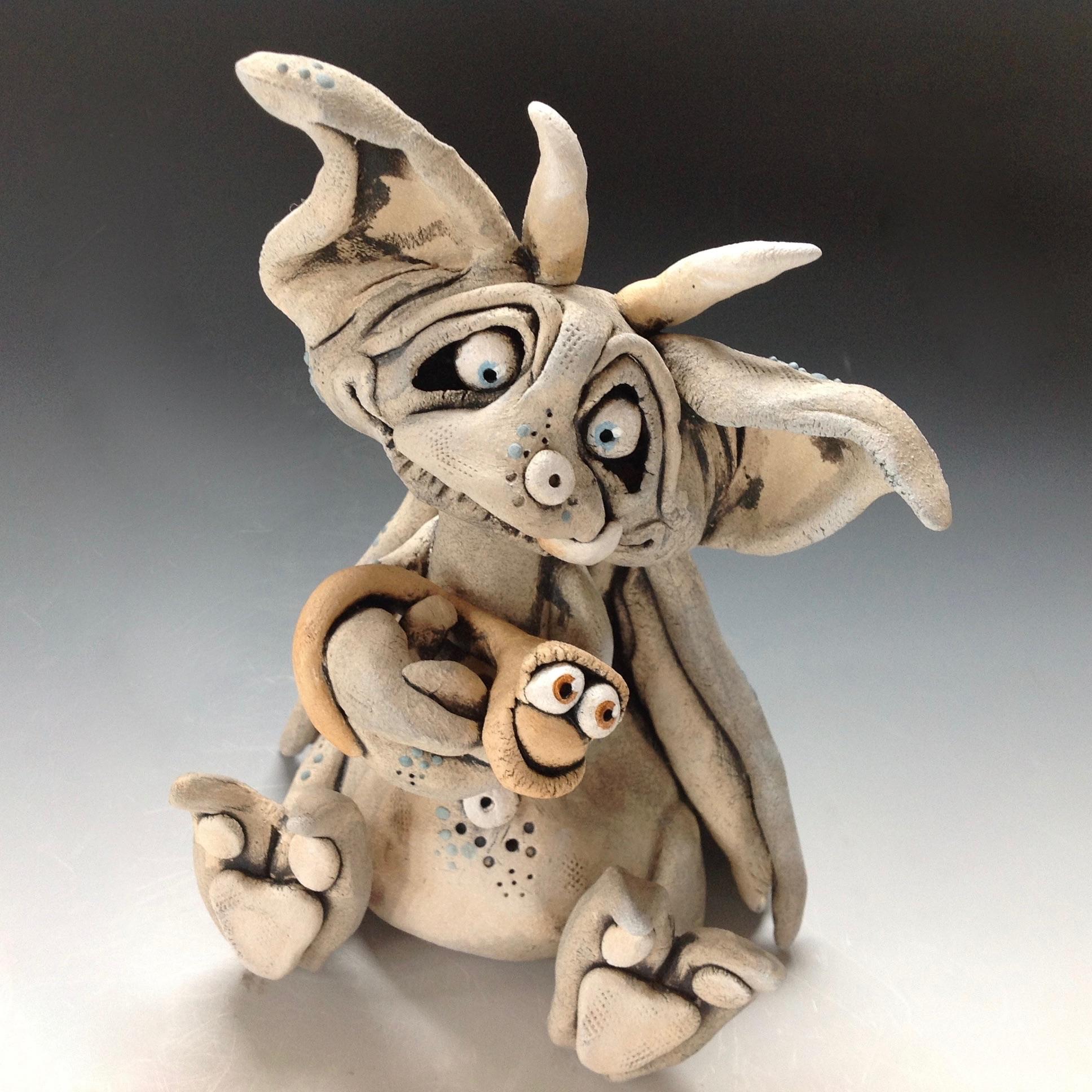 Gargoyle Sculpture Ceramic Pottery