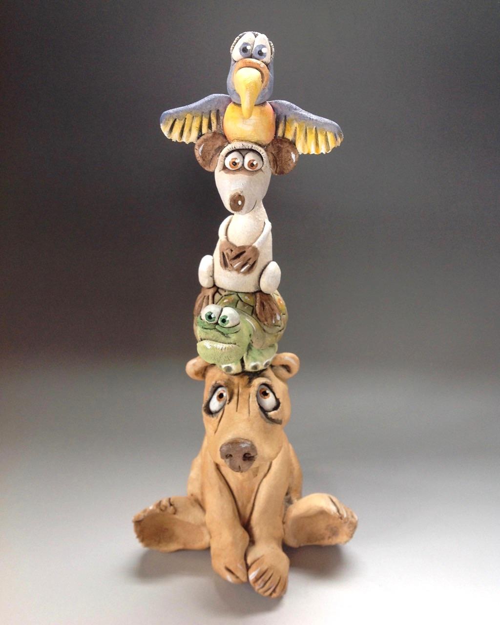 Animal Totem Sculpture Ceramic Pottery