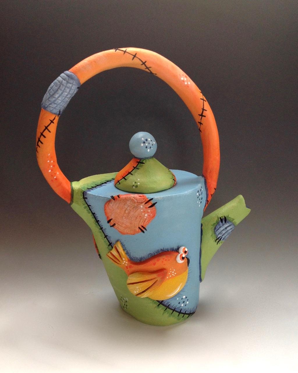 Whimsical Tea Pot Ceramic Pottery