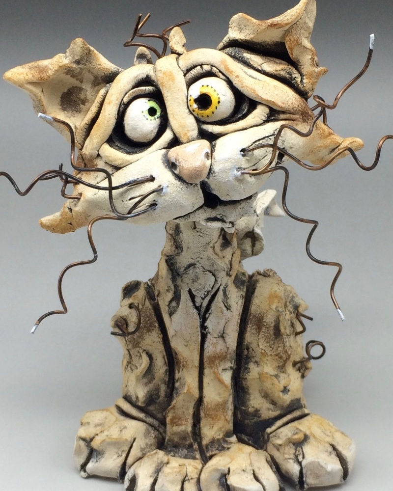 Cat Sculpture - Ceramic