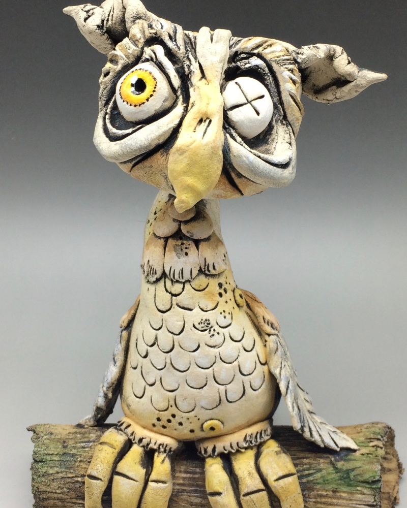 Owl Sculpture - Ceramic