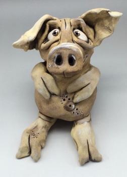 Pig Sculpture - Ceramic