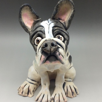 French Bulldog Sculpture - Ceramic
