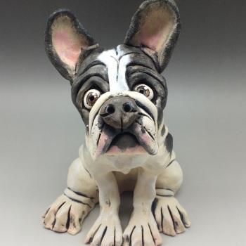 French Bulldog Sculpture - Ceramic