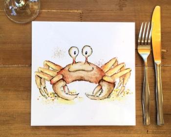 Crab Placemat, Trivet Tile
