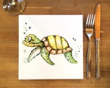 Turtle Placemat, Trivet Tile