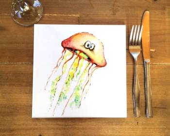 Jellyfish Placemat, Trivet Tile
