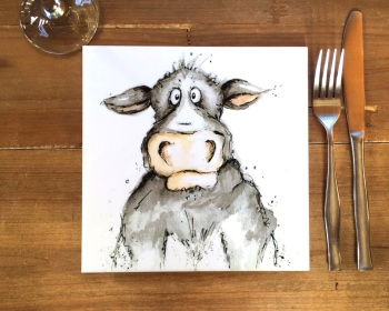 Cow Placemat, Trivet Tile