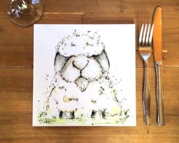 Sheep Placemat, Trivet Tile