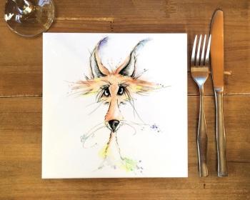 Fox Placemat, Trivet Tile