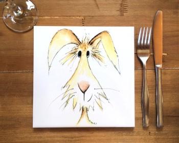 Rabbit Placemat, Trivet Tile