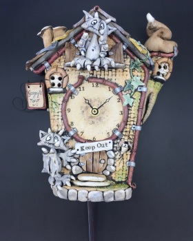 Gargoyle Cuckoo Wall Clock with Pendulum